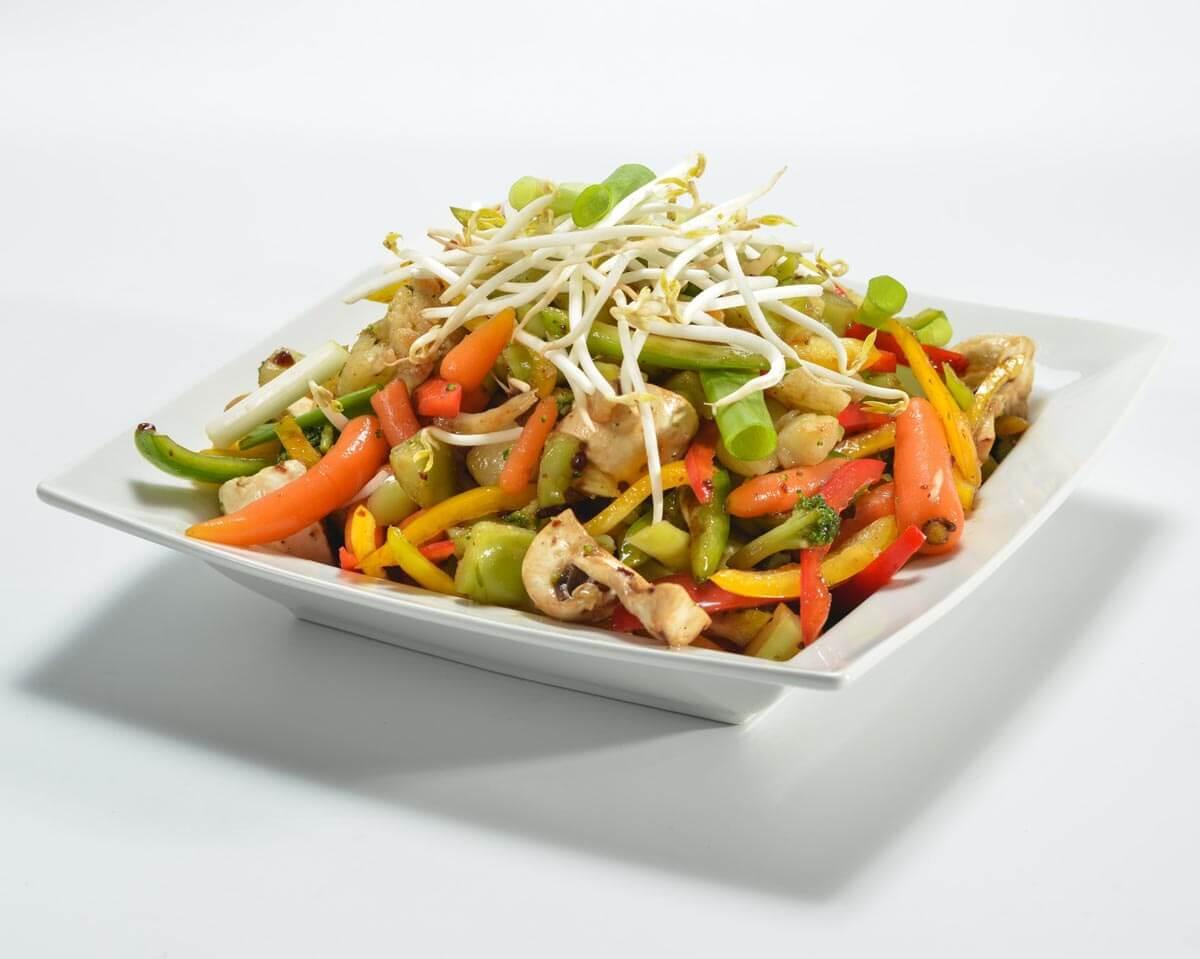 ירקות מוקפצים בטריאקי